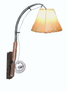 Cabin Wall Sconce - Rainbow Trout & Reels 19th Century - LS727