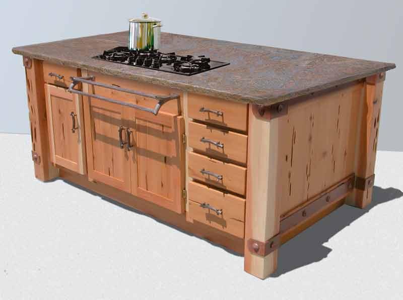 Kitchen Island | Custom Kitchen Cabinets | Custom Cabinets Handmade