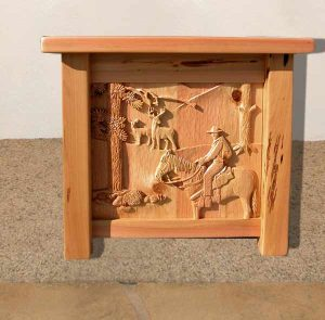 End Table - Hand Carved End Table - CBC101