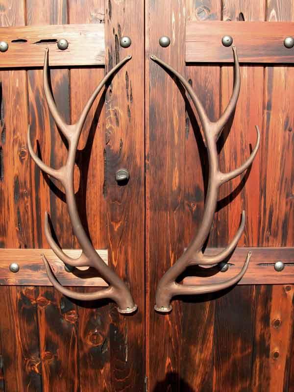 Door Pulls Iron Elk Antlers