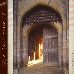 High Security Gate Bodiam Castle 14 th Century  - 1216WIT
