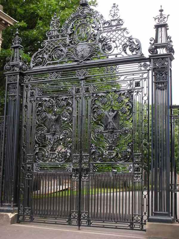 Custom wrought iron entry gate holyrood palace