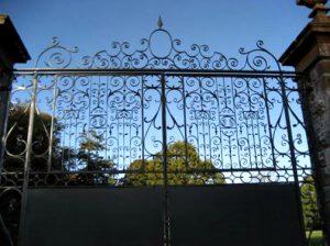 Wrought Iron Entry Gates - Castle Leslie Ireland - 1225IGT