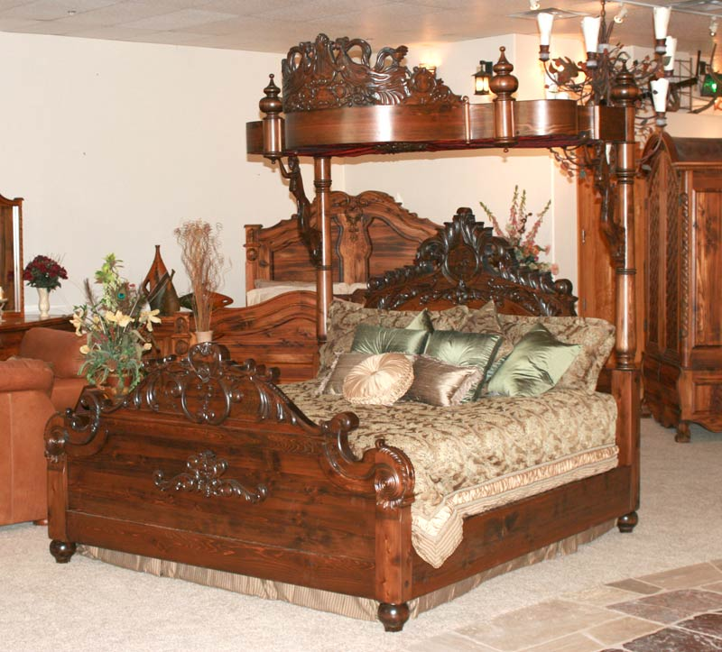 Hand Carved Bed: Gothic Style Beds