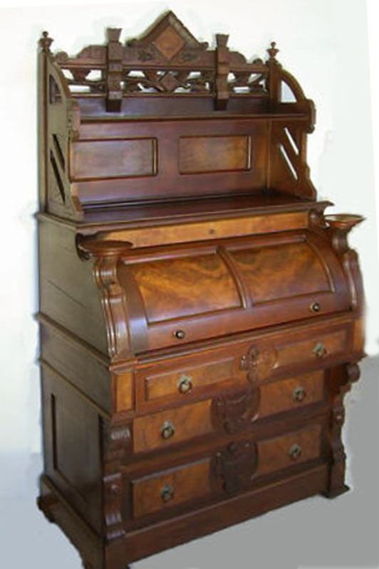- Roll Top Desk Antique Cylinder Desk Secretary Desk